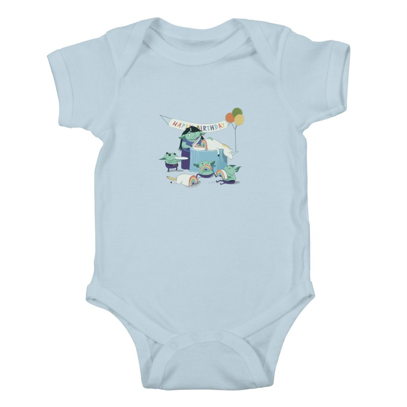 MOTHER GOBLIN'S 50TH Kids Baby Bodysuit by
