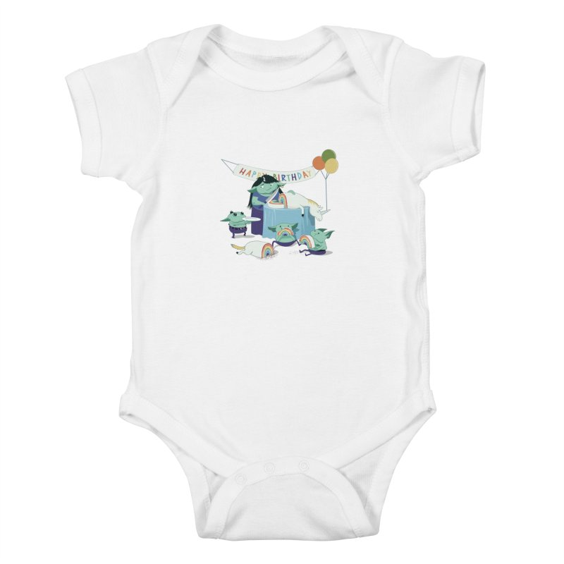 MOTHER GOBLIN'S 50TH Kids Baby Bodysuit by weoos02's Artist Shop
