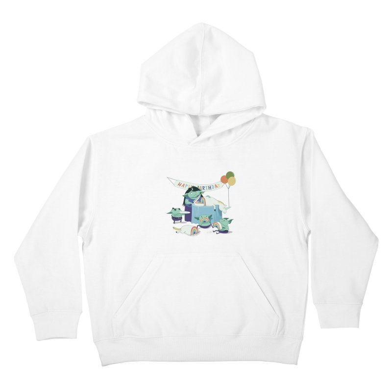 MOTHER GOBLIN'S 50TH Kids Pullover Hoody by