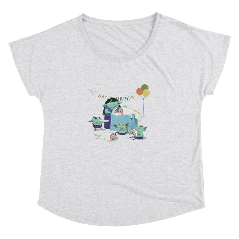 MOTHER GOBLIN'S 50TH Women's Dolman Scoop Neck by