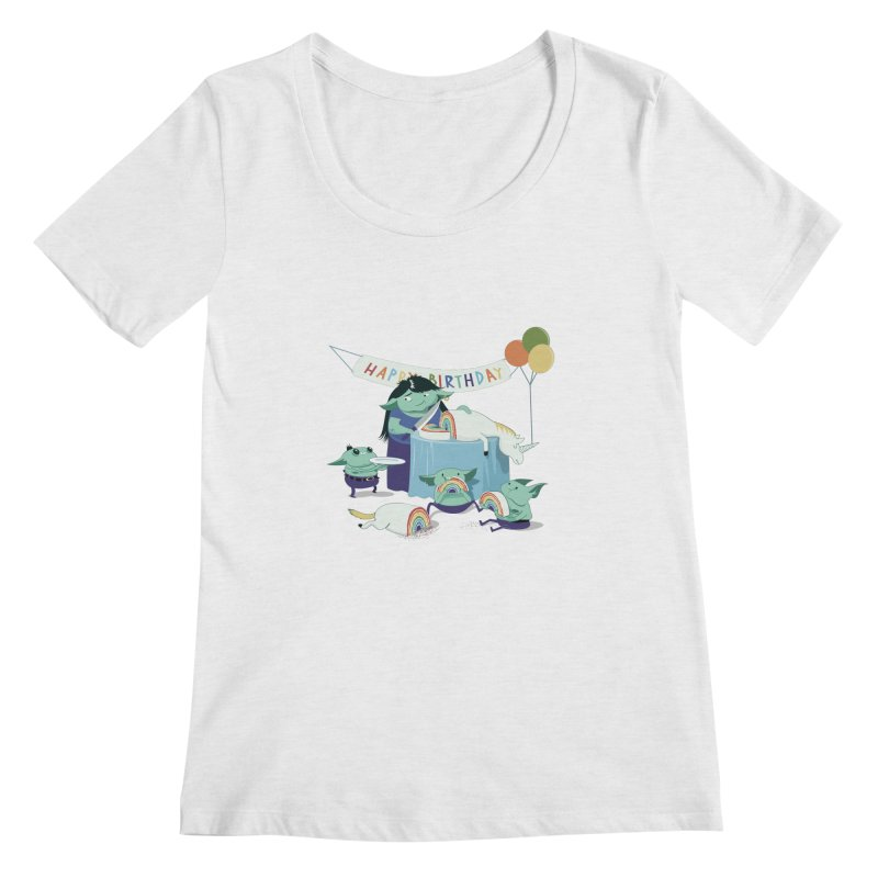 MOTHER GOBLIN'S 50TH Women's Scoopneck by