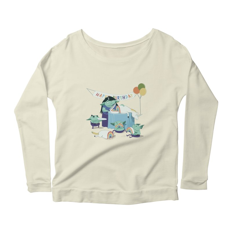 MOTHER GOBLIN'S 50TH Women's Longsleeve Scoopneck  by weoos02's Artist Shop
