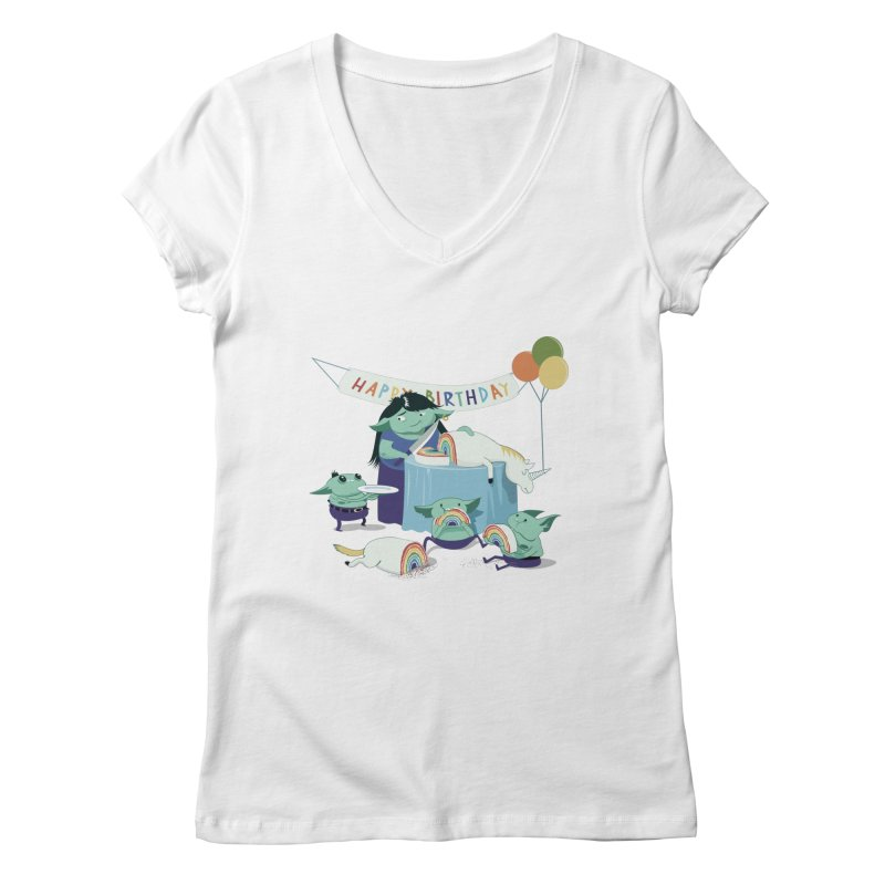 MOTHER GOBLIN'S 50TH Women's Regular V-Neck by
