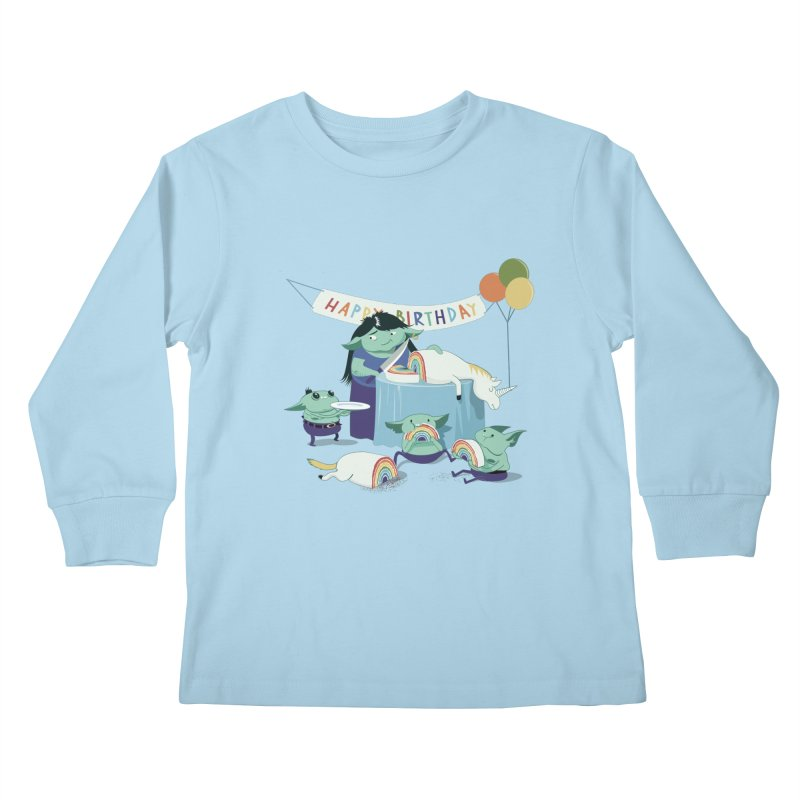 MOTHER GOBLIN'S 50TH Kids Longsleeve T-Shirt by