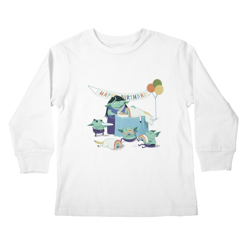 MOTHER GOBLIN'S 50TH Kids Longsleeve T-Shirt by weoos02's Artist Shop