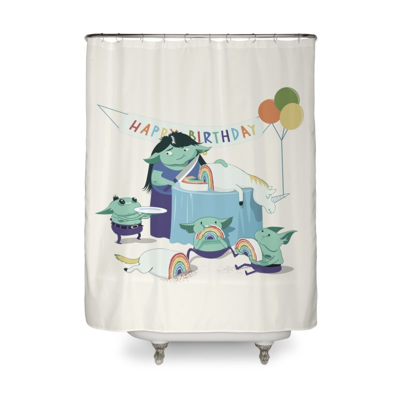 MOTHER GOBLIN'S 50TH Home Shower Curtain by