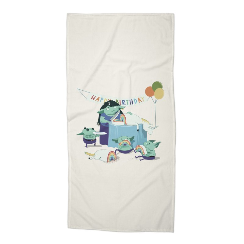 MOTHER GOBLIN'S 50TH Accessories Beach Towel by weoos02's Artist Shop