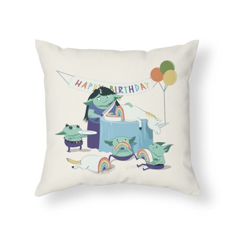 MOTHER GOBLIN'S 50TH Home Throw Pillow by weoos02's Artist Shop