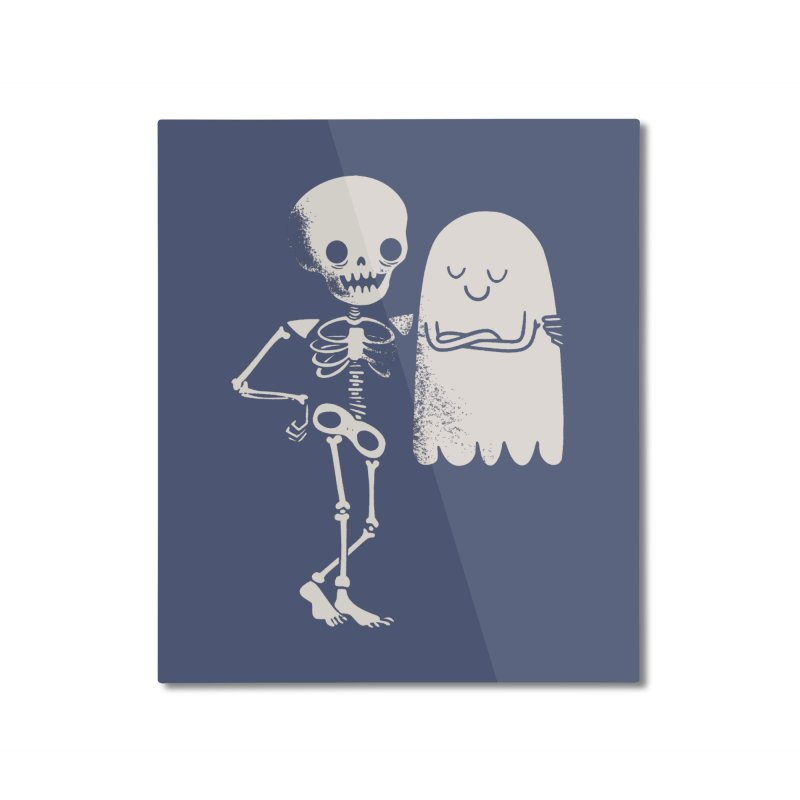 Buddy and Saul Home Mounted Aluminum Print by