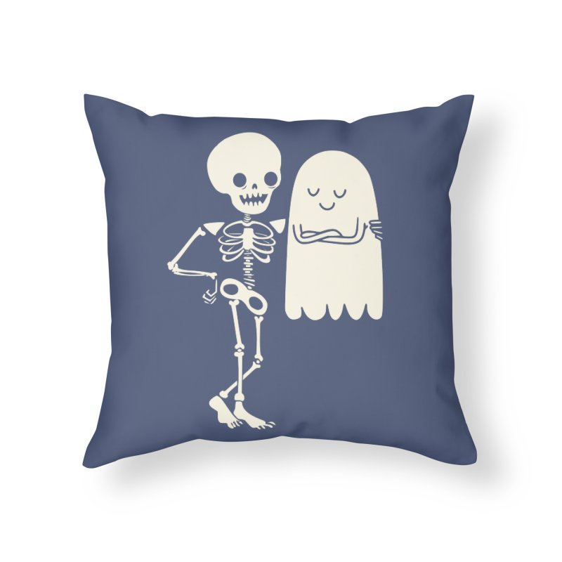 Buddy and Saul Home Throw Pillow by