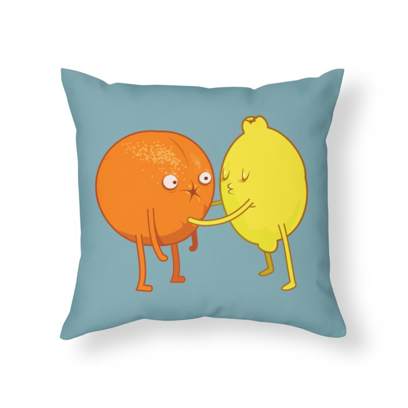 Sour Home Throw Pillow by weoos02's Artist Shop