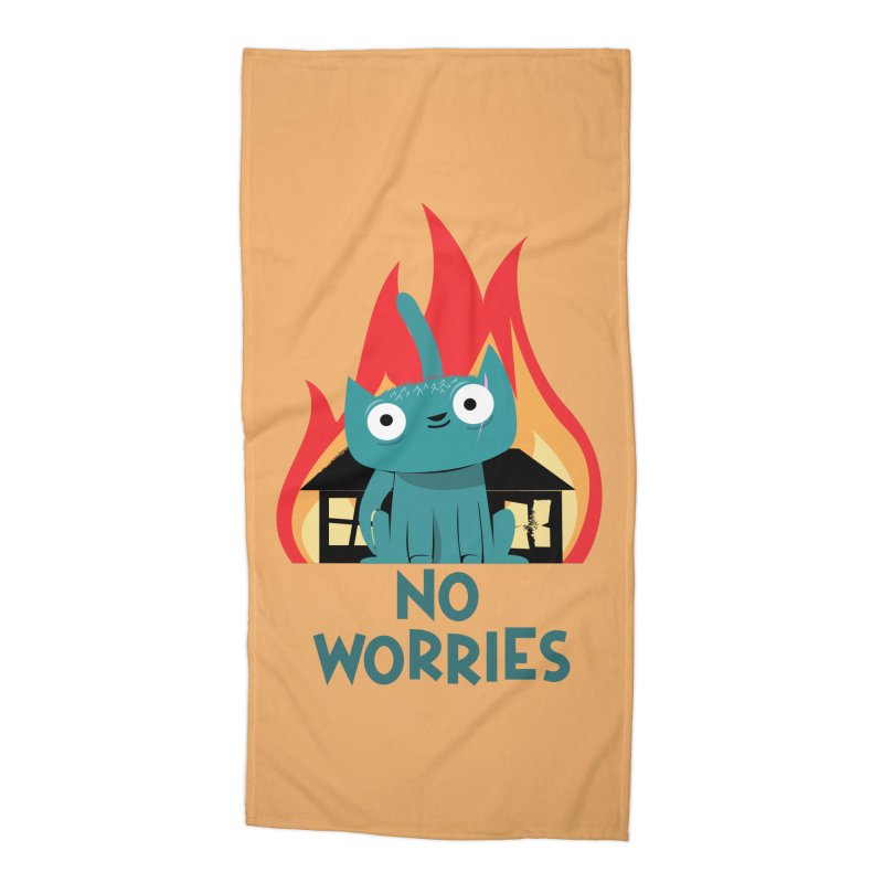 No worries Accessories Beach Towel by weoos02's Artist Shop
