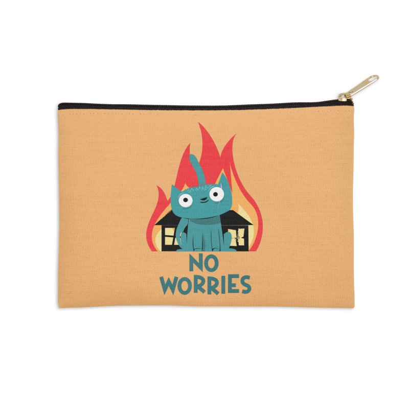 No worries Accessories Zip Pouch by weoos02's Artist Shop
