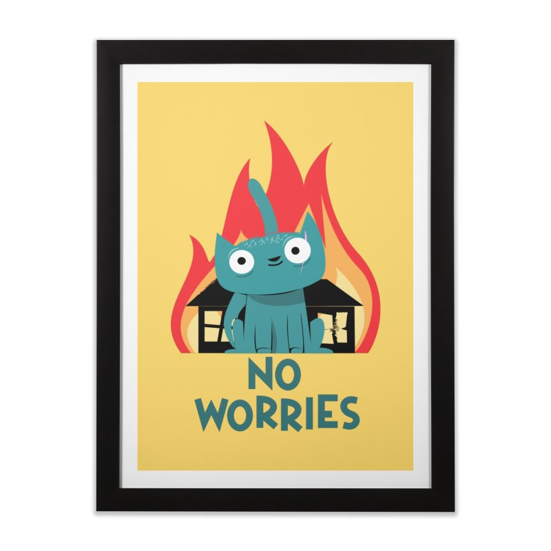 No worries Home Framed Fine Art Print by
