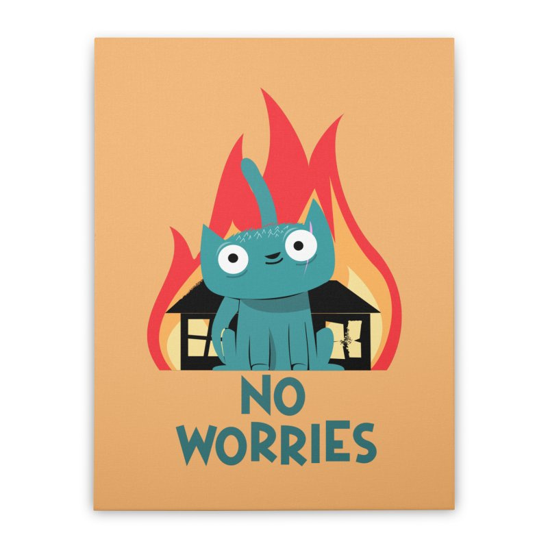 No worries Home Stretched Canvas by weoos02's Artist Shop