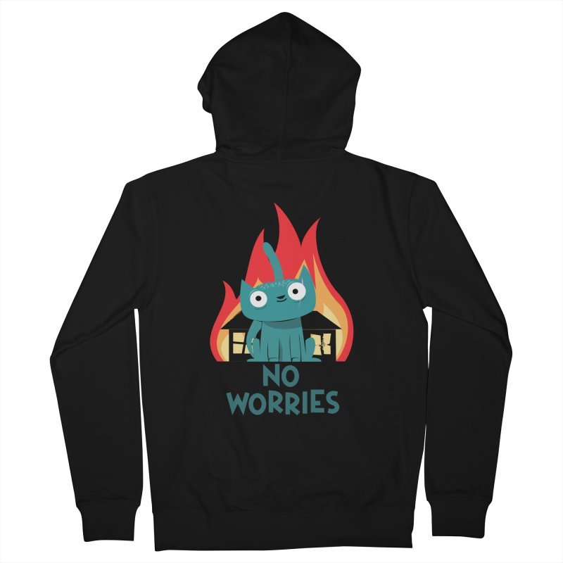 No worries Men's Zip-Up Hoody by weoos02's Artist Shop