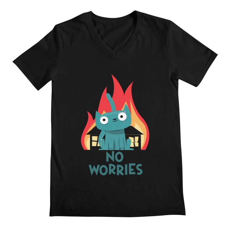 No worries Men's V-Neck by weoos02's Artist Shop