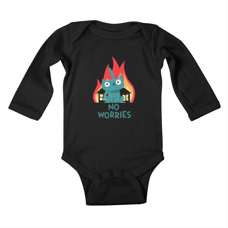 No worries Kids Baby Longsleeve Bodysuit by weoos02's Artist Shop
