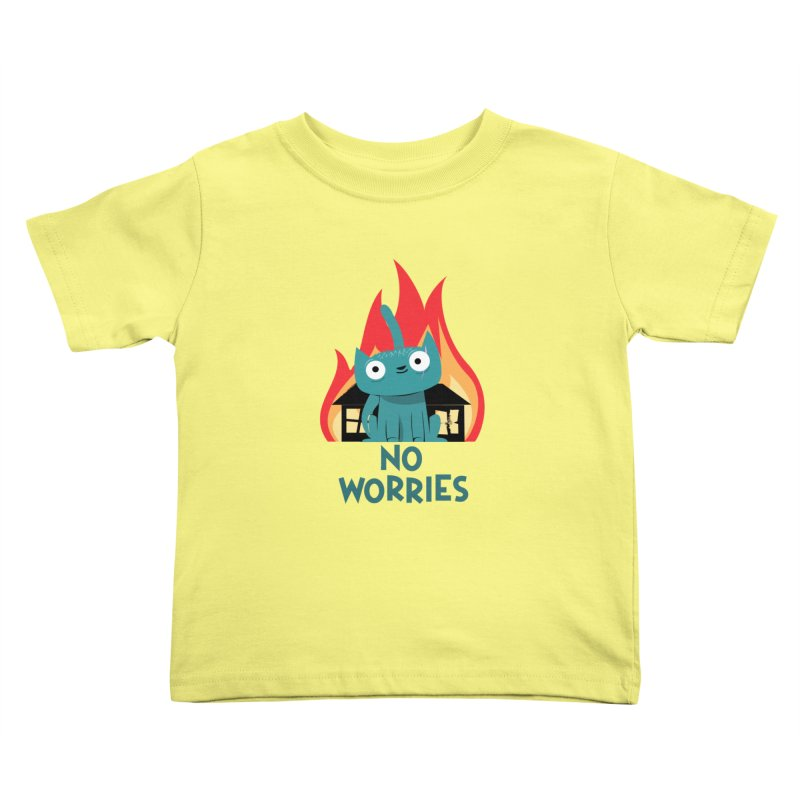 No worries Kids Toddler T-Shirt by weoos02's Artist Shop