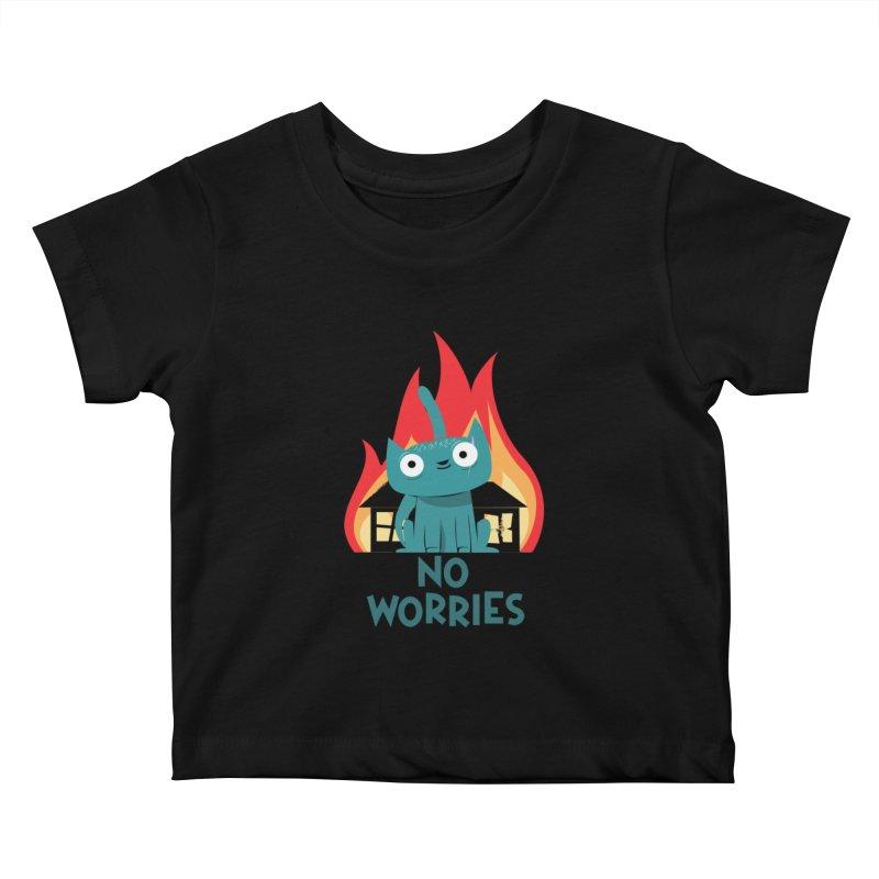 No worries Kids Baby T-Shirt by weoos02's Artist Shop