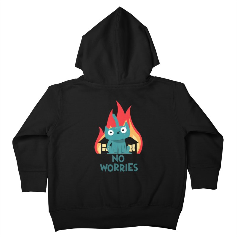 No worries Kids Toddler Zip-Up Hoody by weoos02's Artist Shop