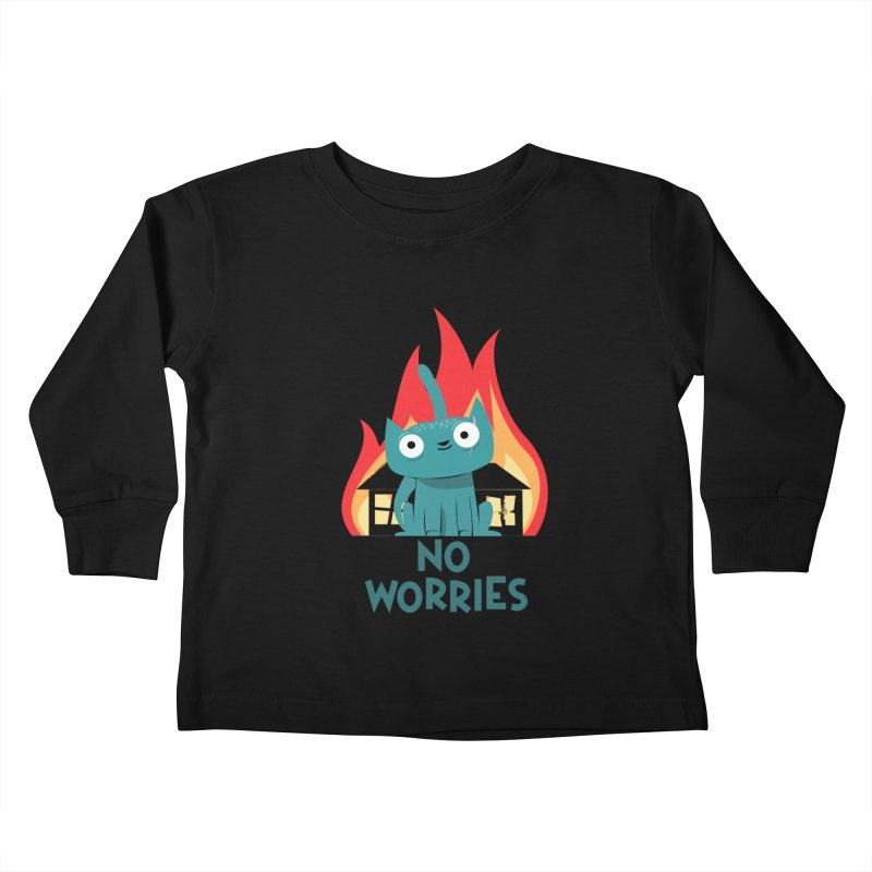 No worries Kids Toddler Longsleeve T-Shirt by weoos02's Artist Shop