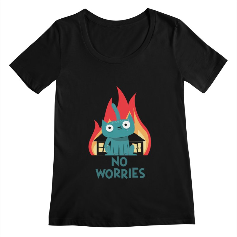 No worries Women's Scoopneck by weoos02's Artist Shop