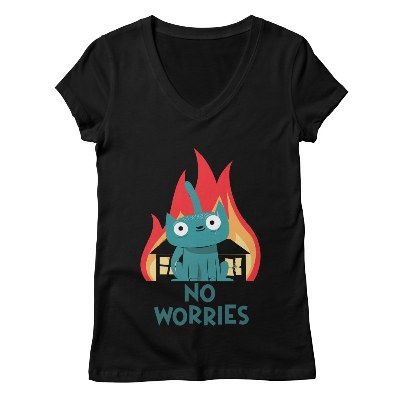 No worries Women's V-Neck by