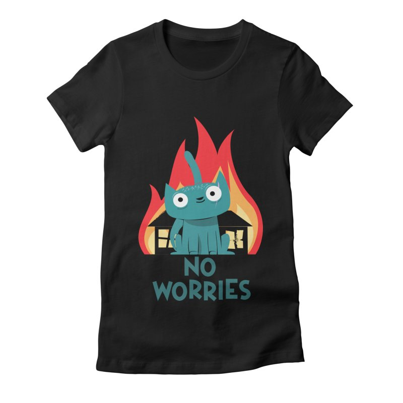 No worries Women's Fitted T-Shirt by weoos02's Artist Shop