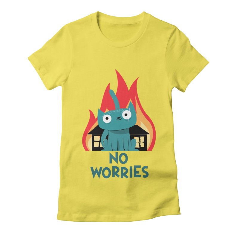 No worries Women's Fitted T-Shirt by