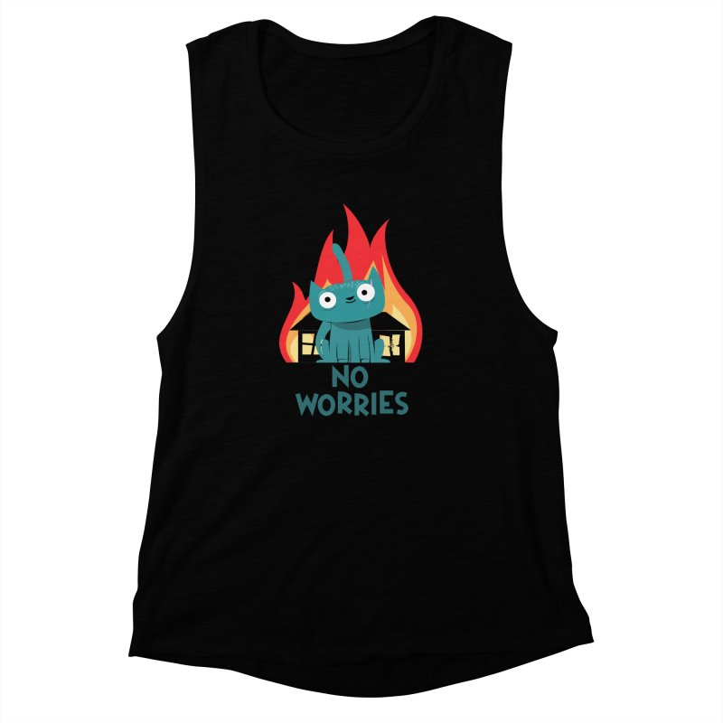 No worries Women's Muscle Tank by