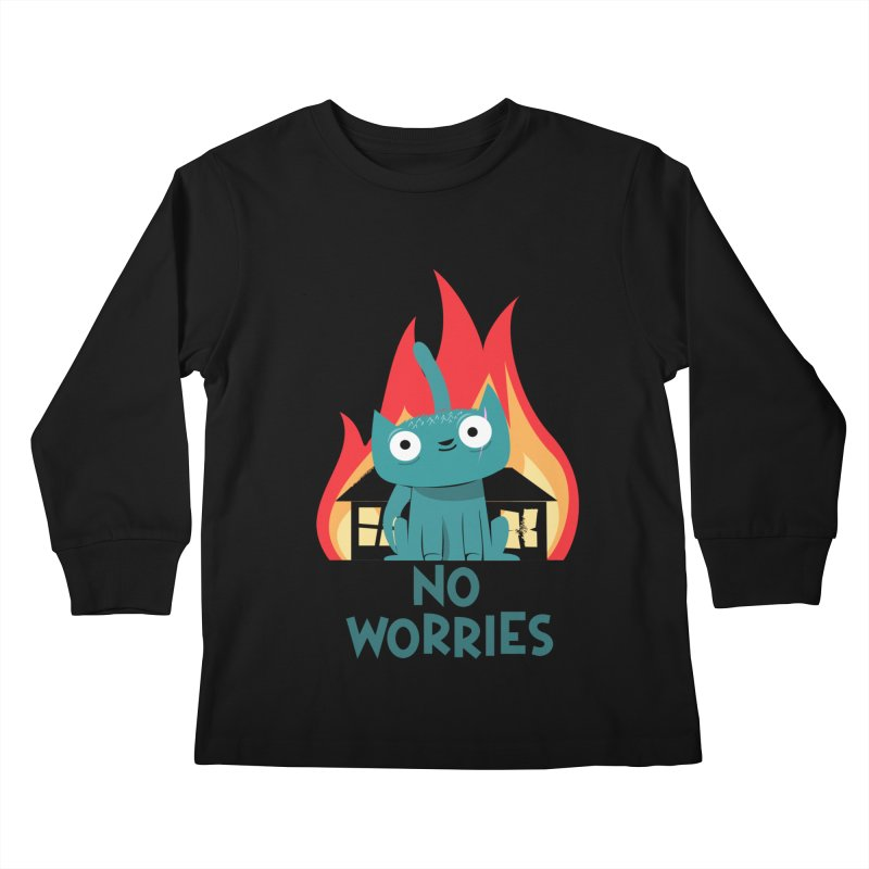 No worries Kids Longsleeve T-Shirt by weoos02's Artist Shop