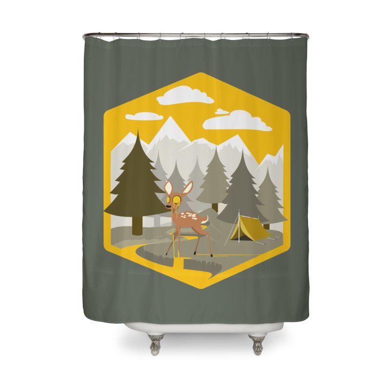 Yellowstoned Home Shower Curtain by