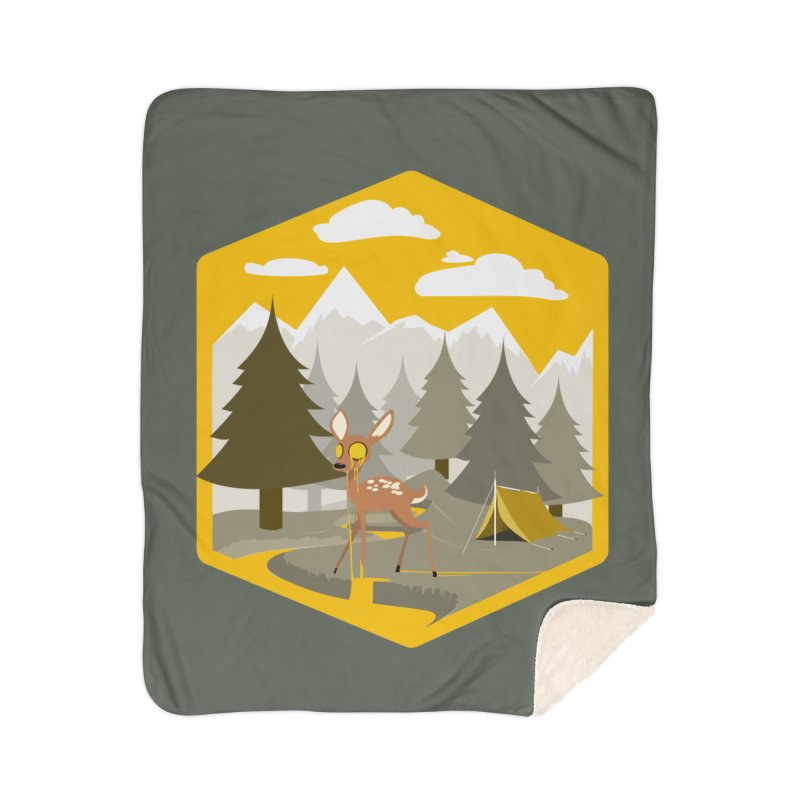Yellowstoned Home Sherpa Blanket Blanket by