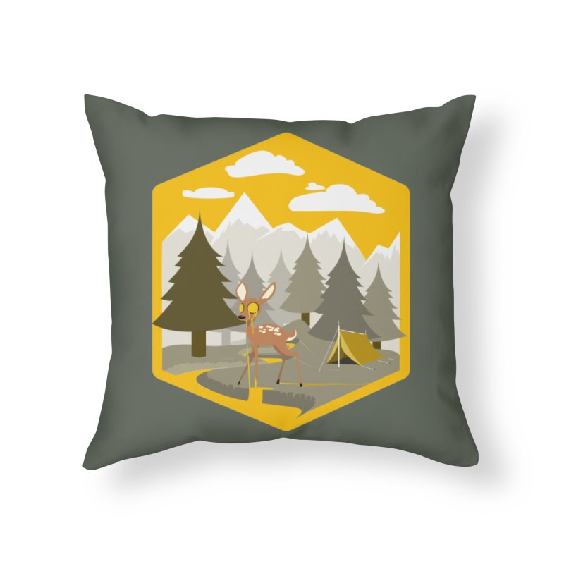 Yellowstoned Home Throw Pillow by