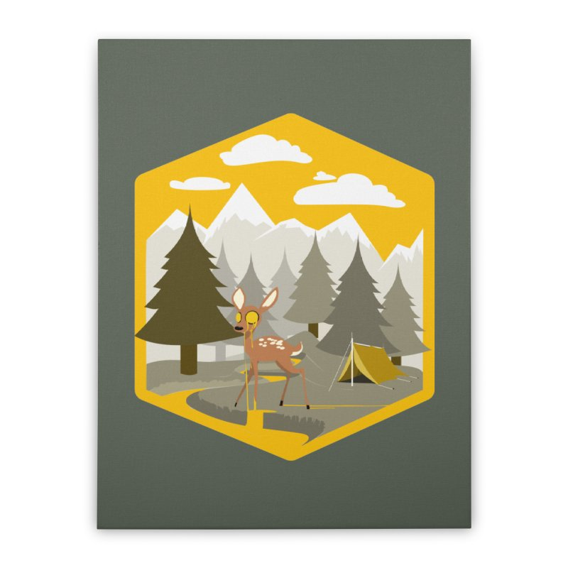 Yellowstoned Home Stretched Canvas by