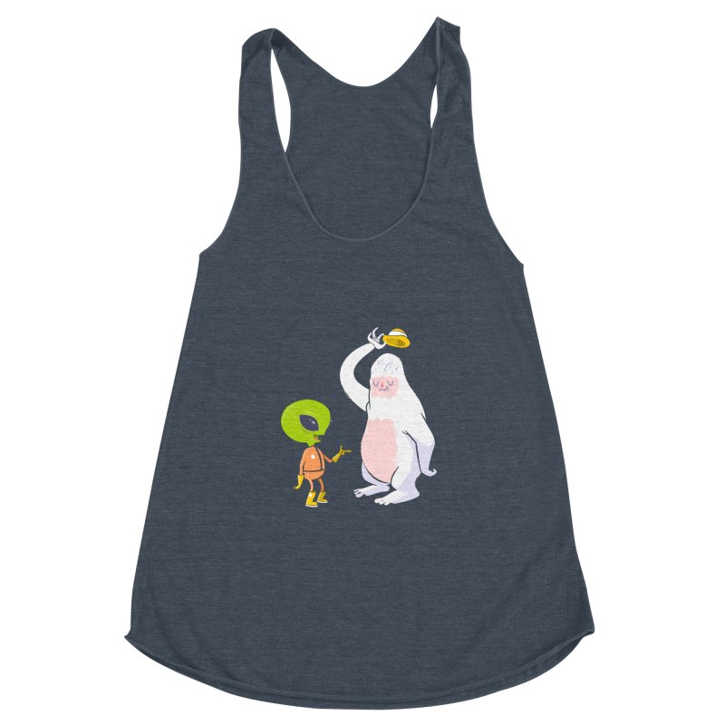 The incredibles Women's Racerback Triblend Tank by
