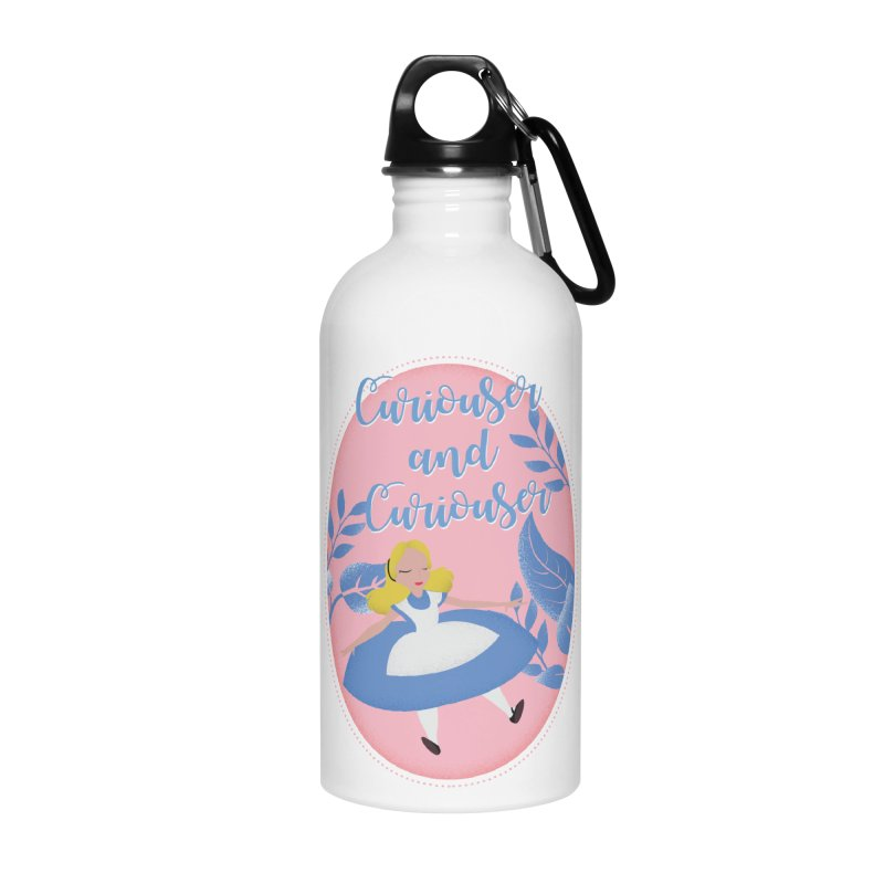 That Curious Girl Accessories Water Bottle by wereallmadboutique's Artist Shop
