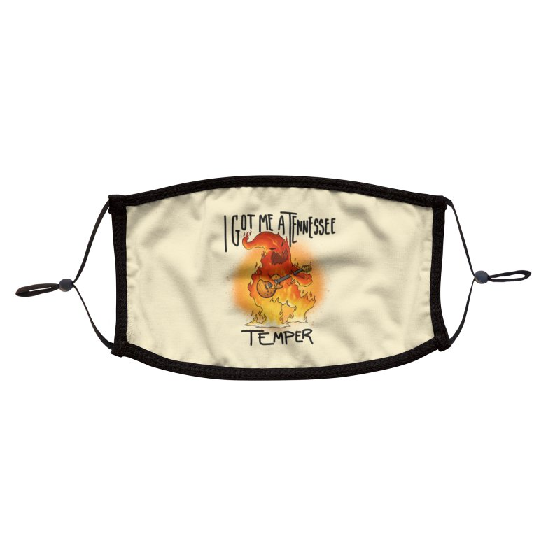 Tennessee Temper Flaming Rocker MORE Face Mask by Werking Gurl