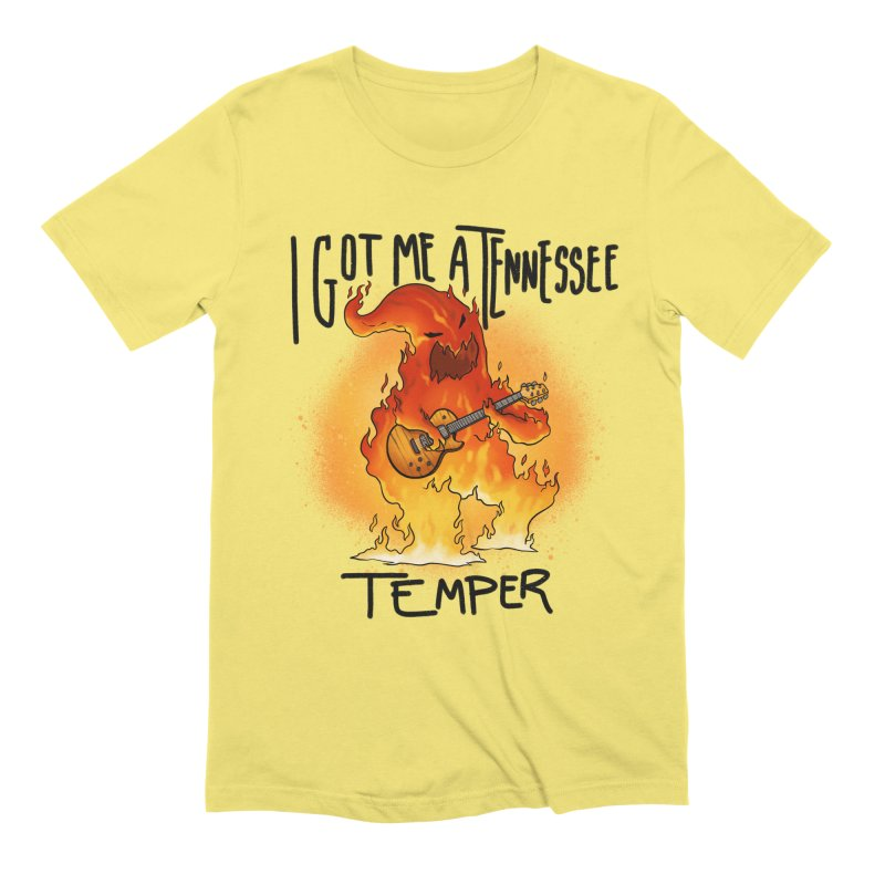 Tennessee Temper Flaming Rocker Unisex T-Shirt by Werking Gurl