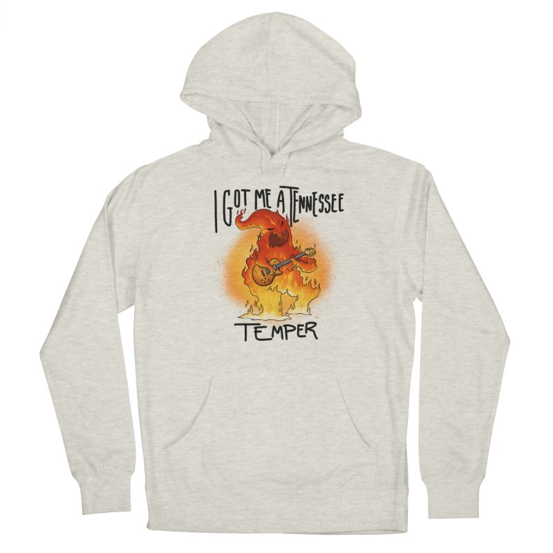 Tennessee Temper Flaming Rocker Unisex Pullover Hoody by Werking Gurl