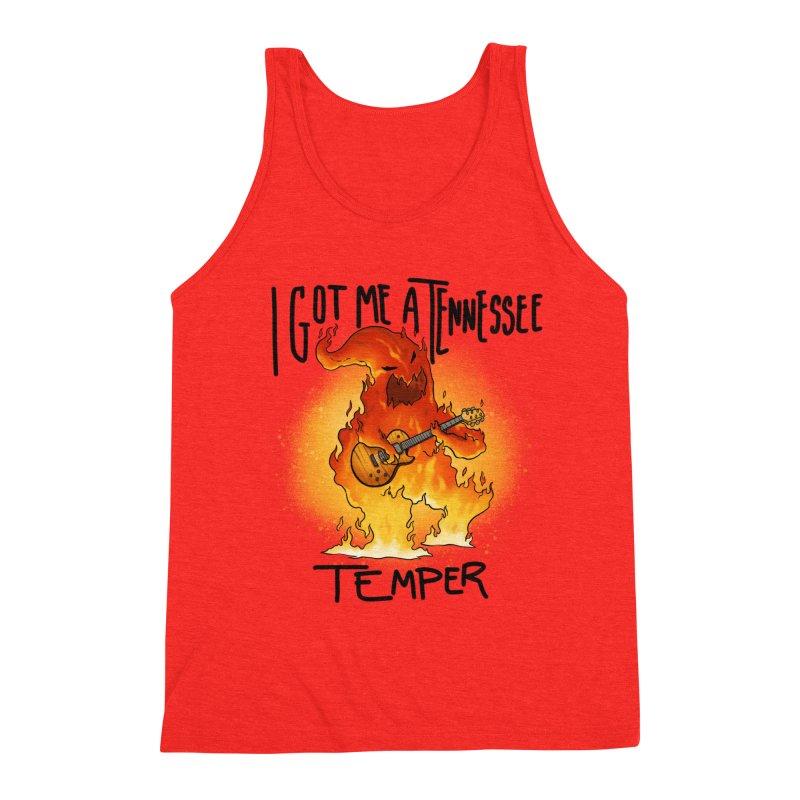 Tennessee Temper Flaming Rocker Unisex Tank by Werking Gurl