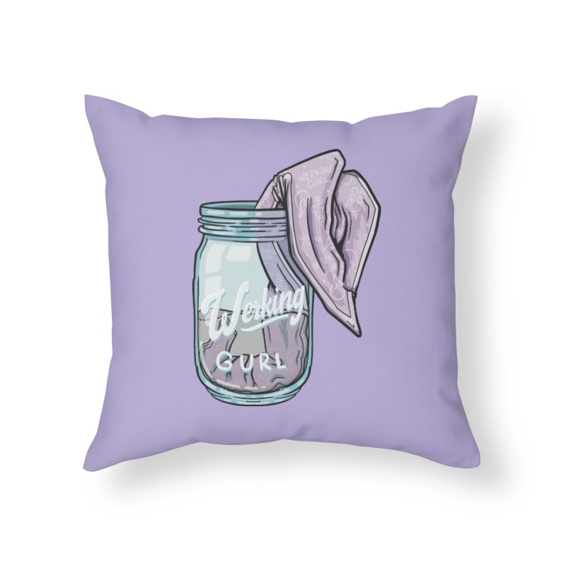 Werking Gurl Mason Jar HAUS Throw Pillow by Werking Gurl