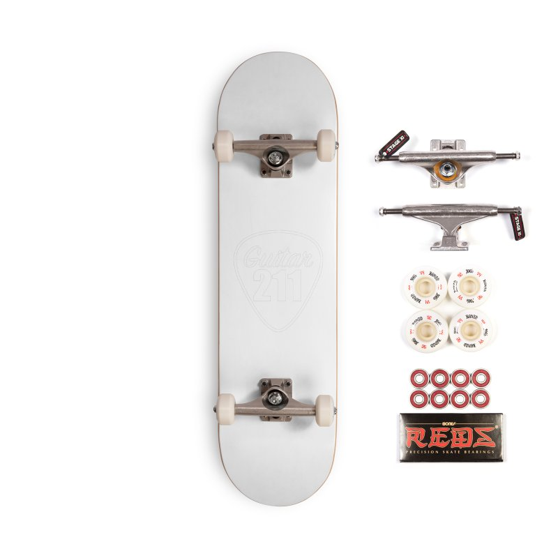 Guitar 211 Accessories Skateboard by Wessel Guitars and Amplifiers Merch Shop