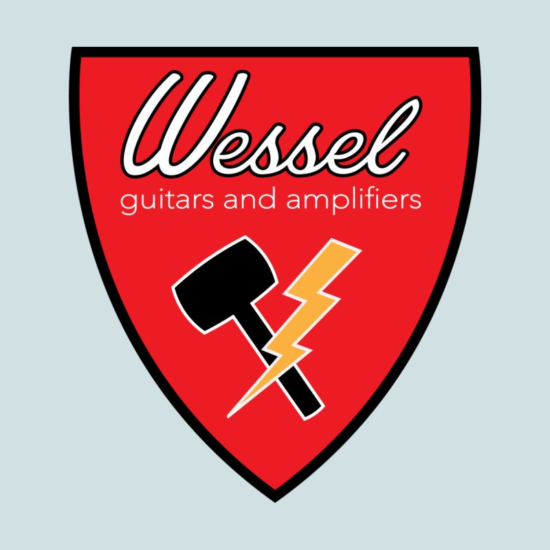 Wessel Guitars Thundershield With Script Men's T-Shirt by Wessel Guitars and Amplifiers Merch Shop