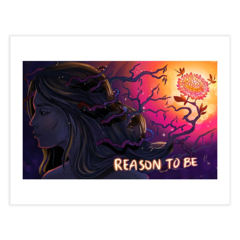 Reason to Be artwork by Crystal Chavez Home Fine Art Print by Westerly Merch