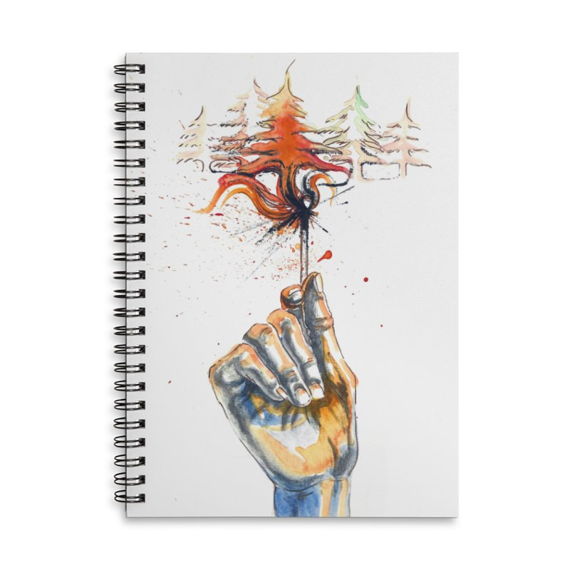 Fire in the Evergreens (Art only) by Annelisa Leinbach Accessories Notebook by Westerly Merch