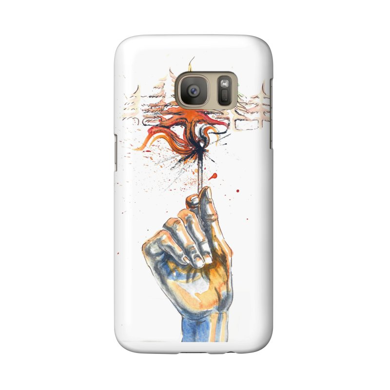 Fire in the Evergreens (Art only) by Annelisa Leinbach Accessories Phone Case by Westerly Merch