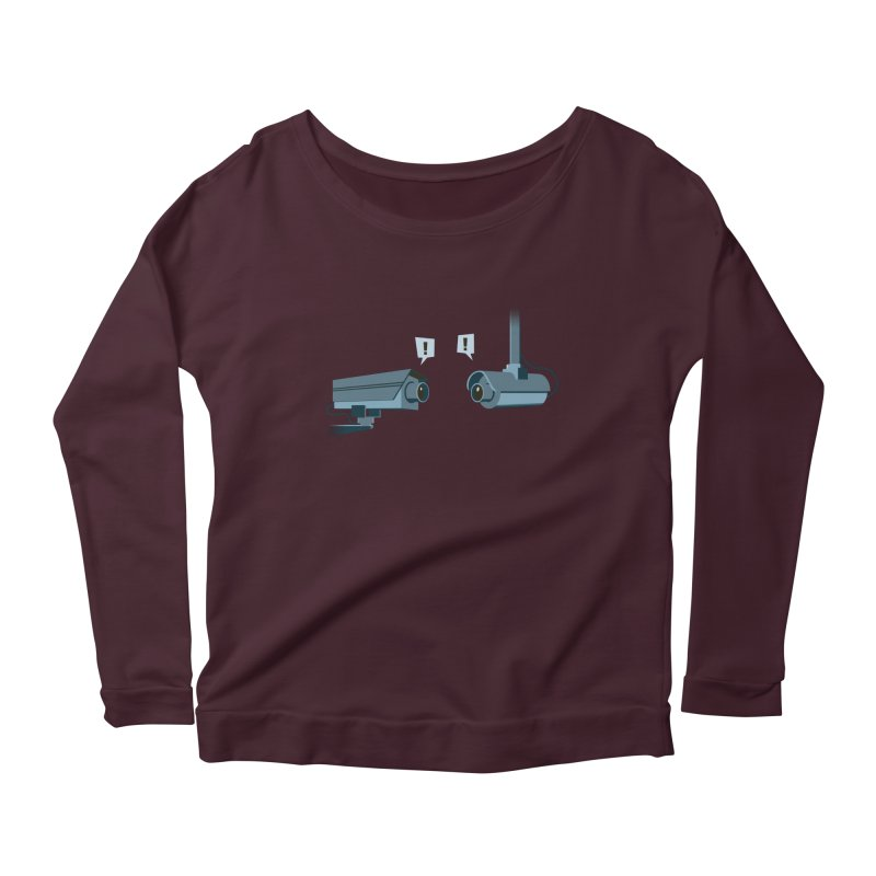 a close encounter with the same kind Women's Longsleeve Scoopneck  by westhill's Artist Shop