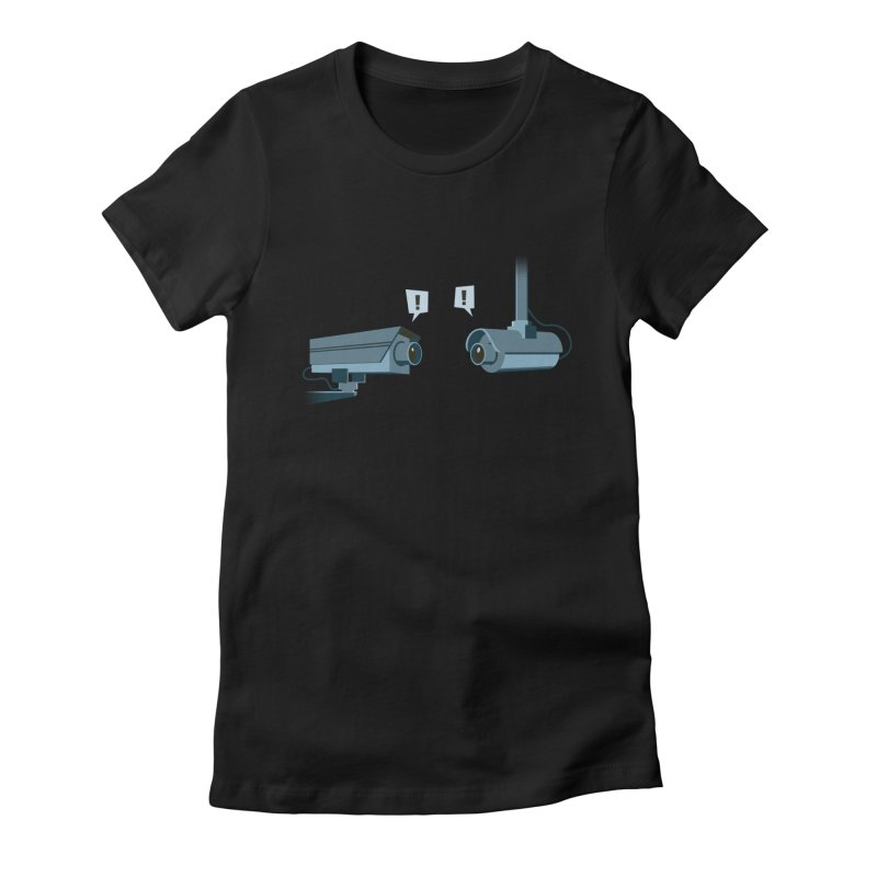 a close encounter with the same kind Women's Fitted T-Shirt by westhill's Artist Shop